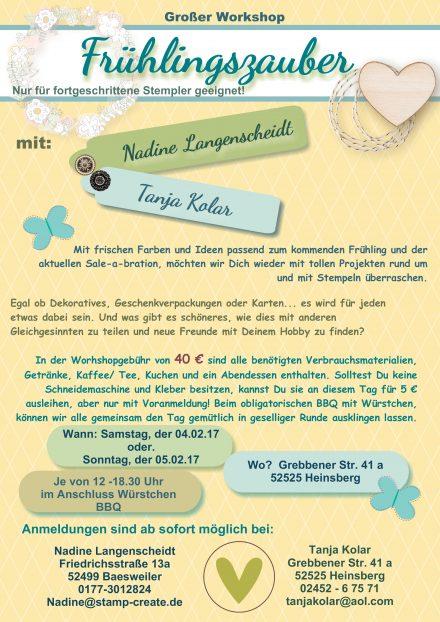 grosser Workshop mit Tanja Kolar und Nadine Langenscheidt
