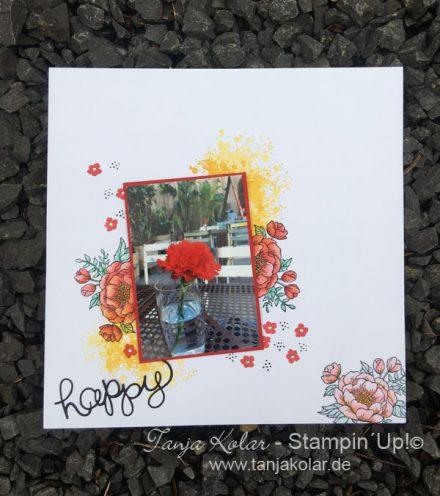 Scraplayout-Blumen
